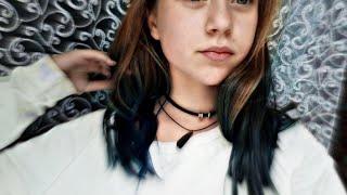 Крашу волосы Тоником в синий цветдикая слива подстригла волосы