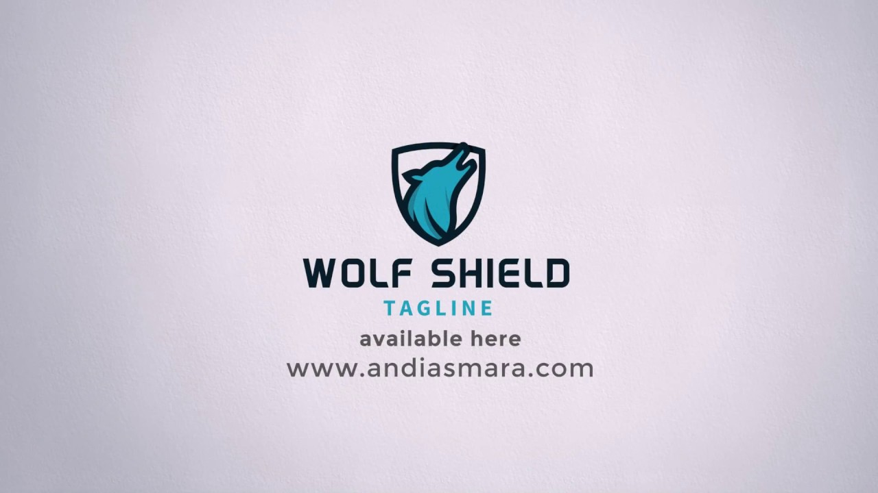 Wolf Shield Logo Template - YouTube