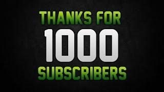 Video 1,000 Subscribers Thanks you Video download MP3, 3GP, MP4, WEBM, AVI, FLV November 2017