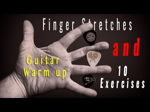 10 warm up exercises and hand stretches for GUITAR PLAYERS
