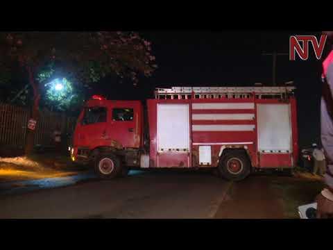 Mercedes Benz catches fire in Wandegeya