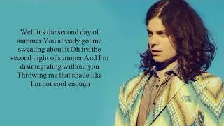 BØRNS Second Night of Summer lyrics