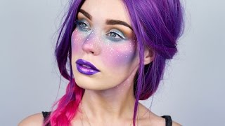 Space Princess GALAXY FRECKLES Makeup - Inspired by Qinni