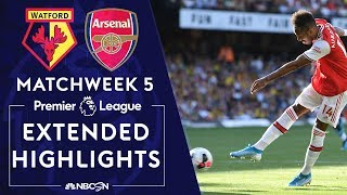 Watford v. Arsenal | PREMIER LEAGUE HIGHLIGHTS | 9/15/19 | NBC Sports