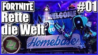 Fortnite - PvE Deutsch ⚡#01 - Angespielt - Rette die Welt - Das Tutorial - [gameplay german deutsch]