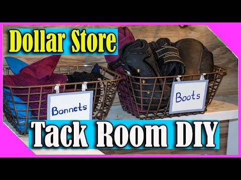 Dollar Store Equestrian DIY For Your Tack Room