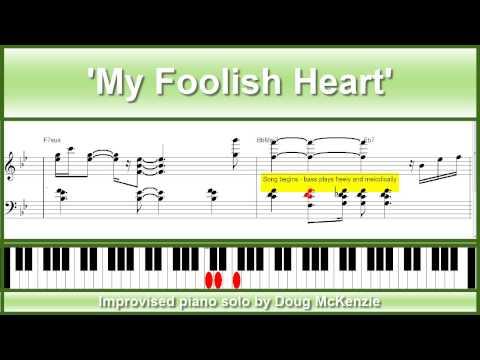 'My Foolish Heart' - jazz piano tutorial