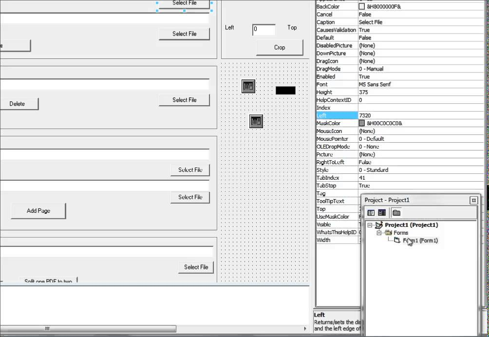 Visual Basic Tutorial shows how to Merge, Split, Crop PDF files with Visual  Basic 6