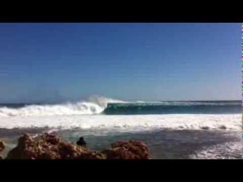 Massive Surf At Red Bluff WA, 10 - 12 Ft!