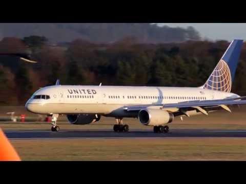 United Airlines Boeing 757-200 @ Edinburgh Airport
