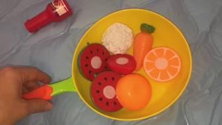 видео Детская кухня, наборы детской посуды, игрушечные наборы овощей и фруктов