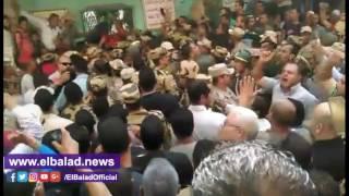 قيادات الجيش والشرطة يودعون شهيد سيناء في إيتاى البارود..فيديو وصور