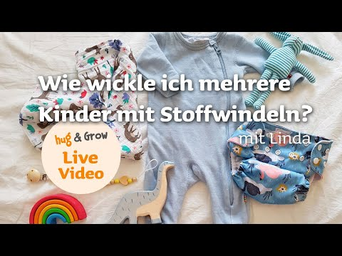 Video: Wie wickle ich mehrere Kinder mit Stoffwindeln? Linda verrät es euch!