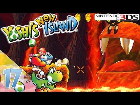 Yoshi's New Island Let's Play ★ 17 ★ Riesen Feuer Blargg macht Angst ★ Deutsch
