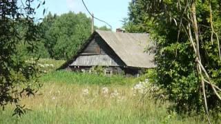 Умирающие деревни России, дорога Остров - Порхов (1)