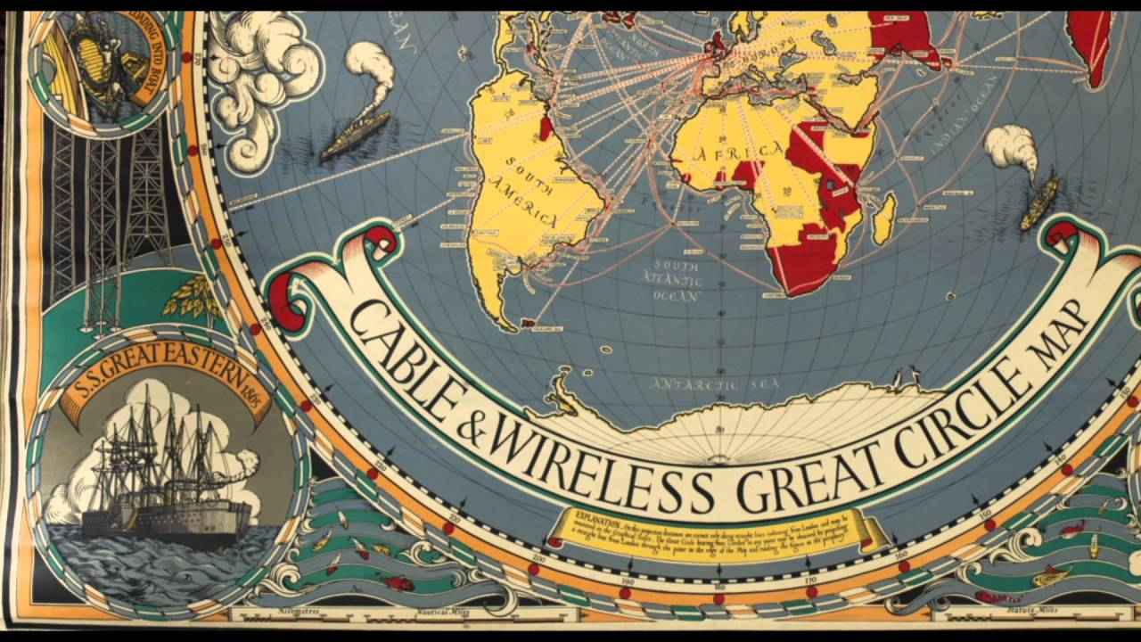 Cable wireless map macdonald gills great circle world map flat cable wireless map macdonald gills great circle world map flat earth gumiabroncs Gallery