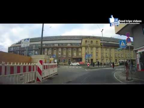 ROAD TRIP: driving through Frankfurt am Main and Eschborn / Gemany in January 2017 / dashcam