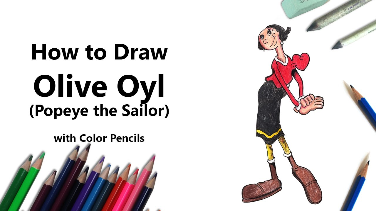 how to draw popeye step by step