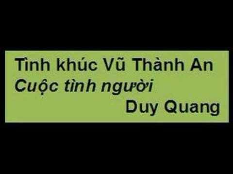 Cuộc tình người. Duy Quang