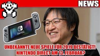 Neue Direct am 13. Februar? / Neue Unbekannte Switch Spiele für 2019 bestätigt! - NerdNews 382