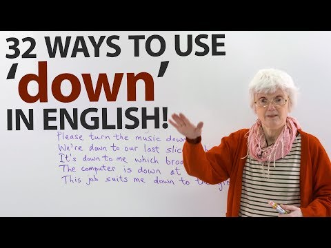 Learn the many uses of 'DOWN' in English · engVid