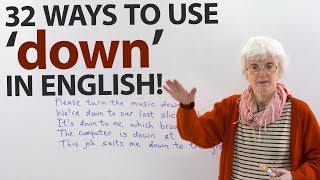 Learn the many uses of 'DOWN' in English