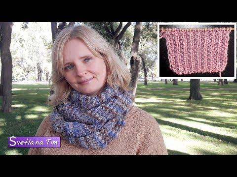 Сколько петель набирать на шарф снуд спицами