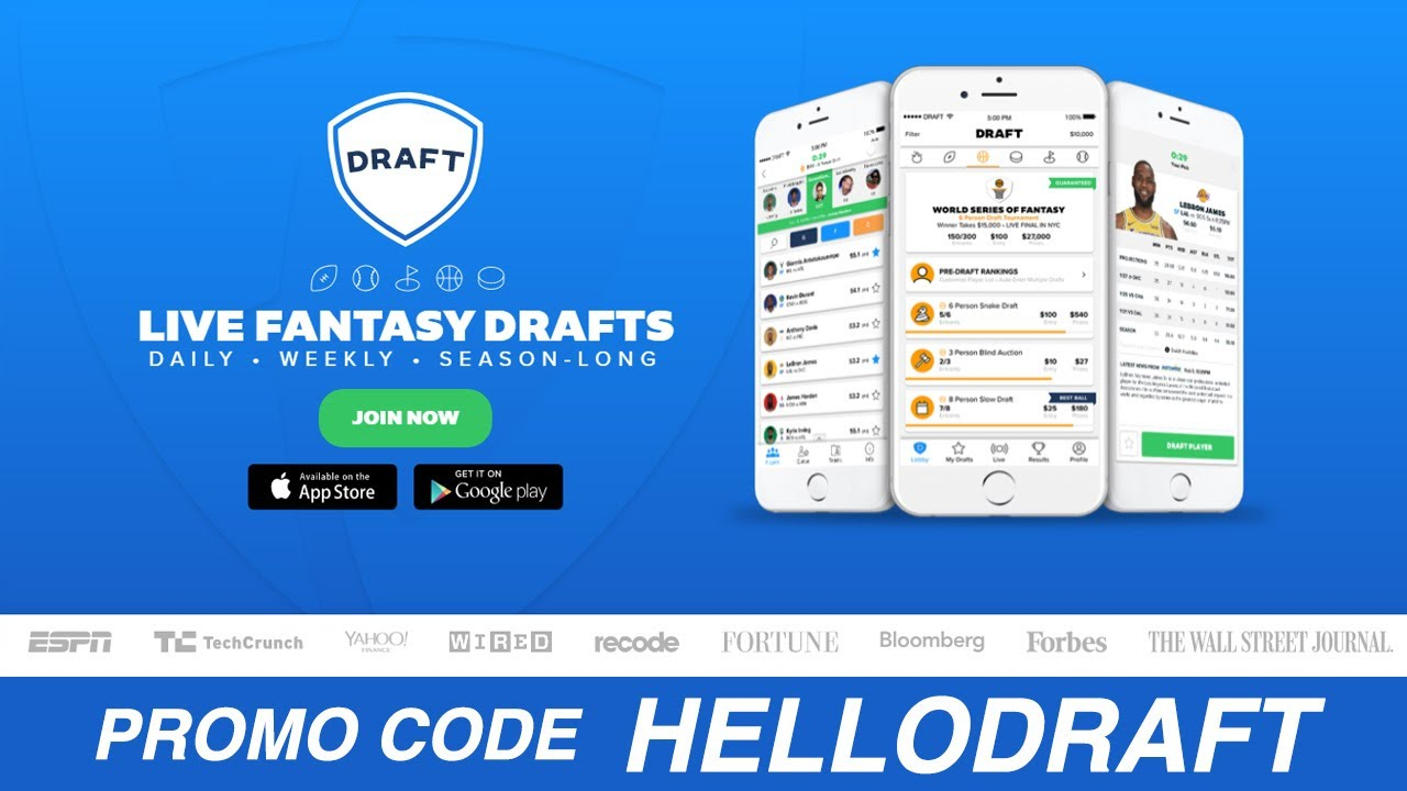 Draft Promo Code - New Draft com NFL Promos for August 2019!