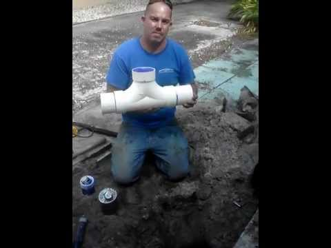 Installing A Sewer Line Cleanout Youtube