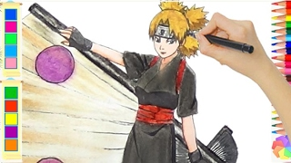 Temari Drawing - How to draw Temari from Naruto Very Beauty - Drawing Anime - Lamdepchobe TV