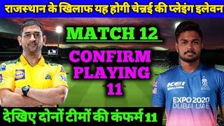 IPL 2021 - CSK vs RR Confirm Playing 11   Chennai Super Kings vs  Rajasthan Royals