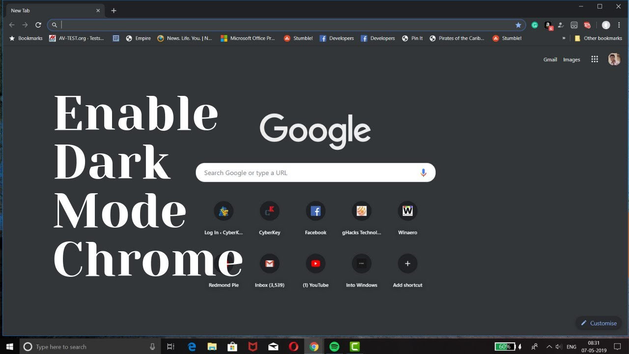 youtube dark mode desktop 2018