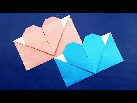 Origami Envelope Heart - Origami Valentine's Day Gift Card Envelope