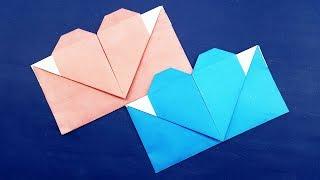 Origami Envelope Heart - Origami Valentine's Day Gift Card Envelope