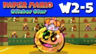 Paper Mario Sticker Star - Gameplay Walkthrough World 2-5 - Drybake Stadium (Nintendo 3DS)