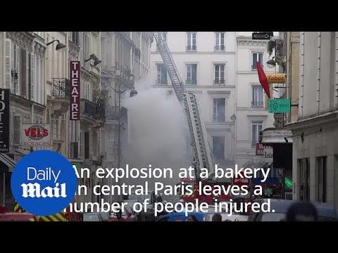 Firefighters tackle blaze in Paris after an explosion at a bakery Mp3