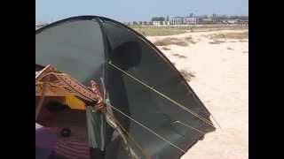 Моя палатка при штормовом ветре. День пятый.(Испытание палатки штормовым ветром и солнцем., 2014-08-02T17:28:08.000Z)