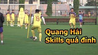 Đỗ Kim Phúc đi xem Quang Hải ĐT Việt Nam trổ tài bóng đá ở vòng loại World Cup 2022 skills 5 sao