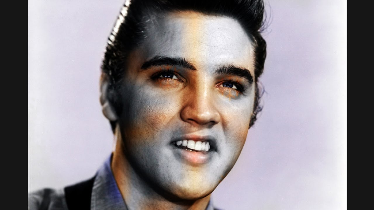Colorizing Rare Old Photo Of Elvis Presley Youtube