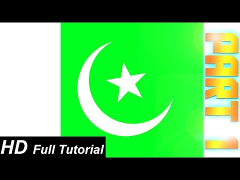 photoshop-tutorial:-how-to-create-a-s.-pakistani-flag-in-photoshop-(in-urdu),-part-1