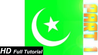 Photoshop CC: How To Create A S. Pakistani Flag In Photoshop (In URDU), Part 1