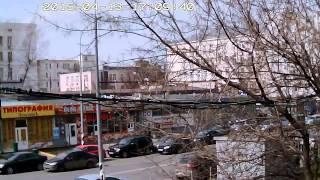 Пример видеозаписи с уличной IP камеры Zodiak 919 (1280x720 Пикс)