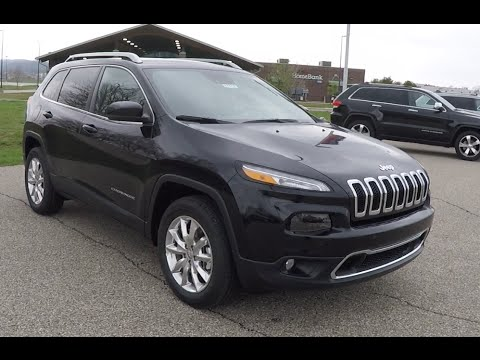 Black 2015 Jeep Cherokee Latitude