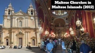 maltese churches around malta gozo and comino inside and outside churches