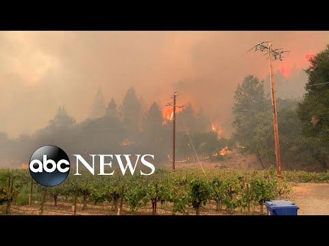 ABC News Live Update: As 70 major fires rip across 10 states, thousands evacuate