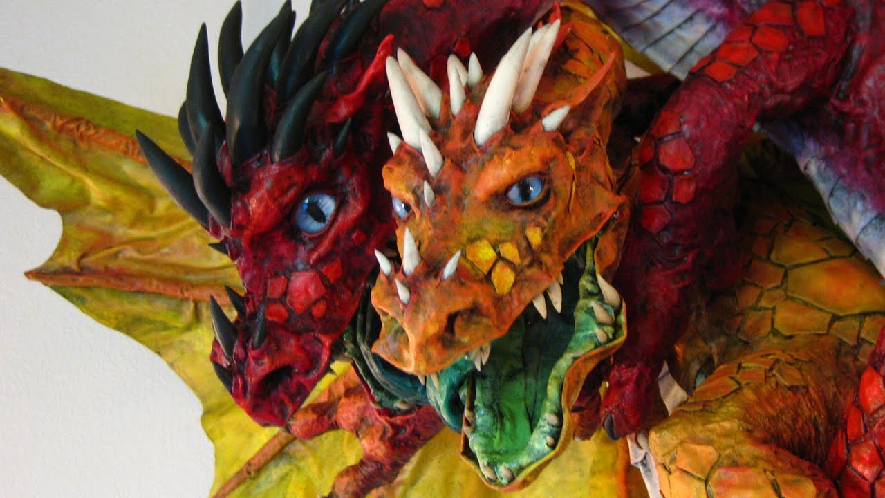 how to draw dragon eys on paper mache