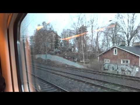 VR Pendolino 975, Helsinki (Helsingfors) to Kupittaa (Kuppis), 06.04.16, 16:16-17:39, Part 1