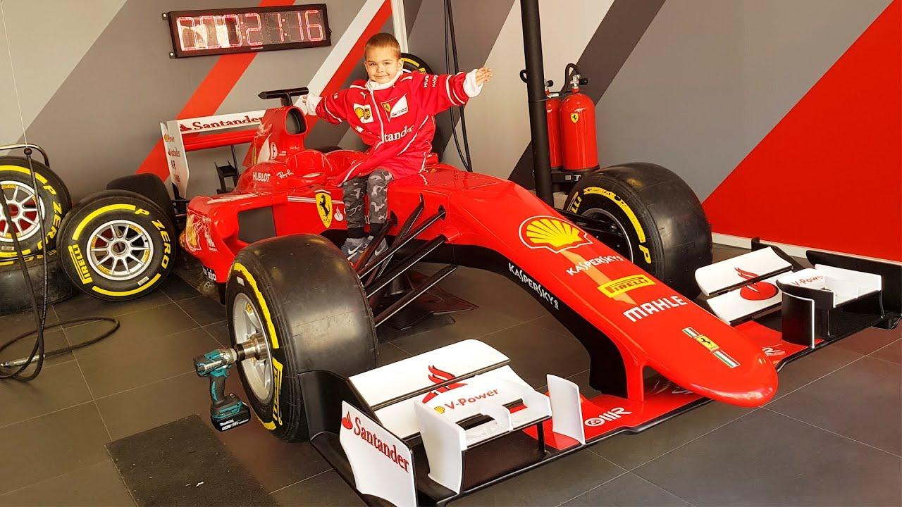 Dima in Ferrari Land for kids