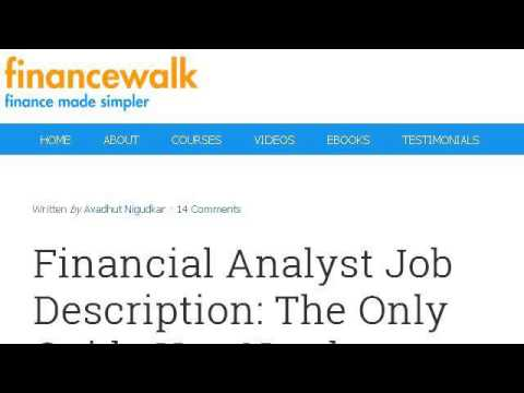 Job Description For Financial Accounting Analyst  Youtube