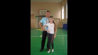 Мастер класс на открытом уроке по физкультуре в СШ 5. Камилла Пивоваренко